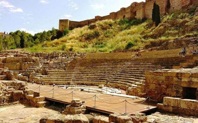 Teatro Romano Málaga Rent a car Málaga