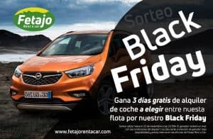 Oferta de Black Friday en Fetajo Rent a Car