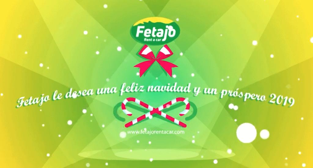 Video de felicitaciones de Navidad de Fetajo Rent a Car