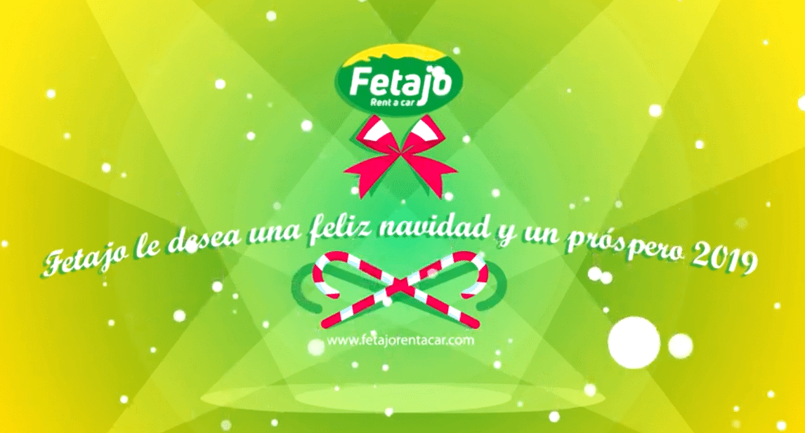 Video de felicitaciones de Navidad de Fetajo Rent a Car