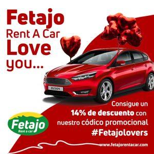 Oferta de San Valentín de Fetajo Rent a Car