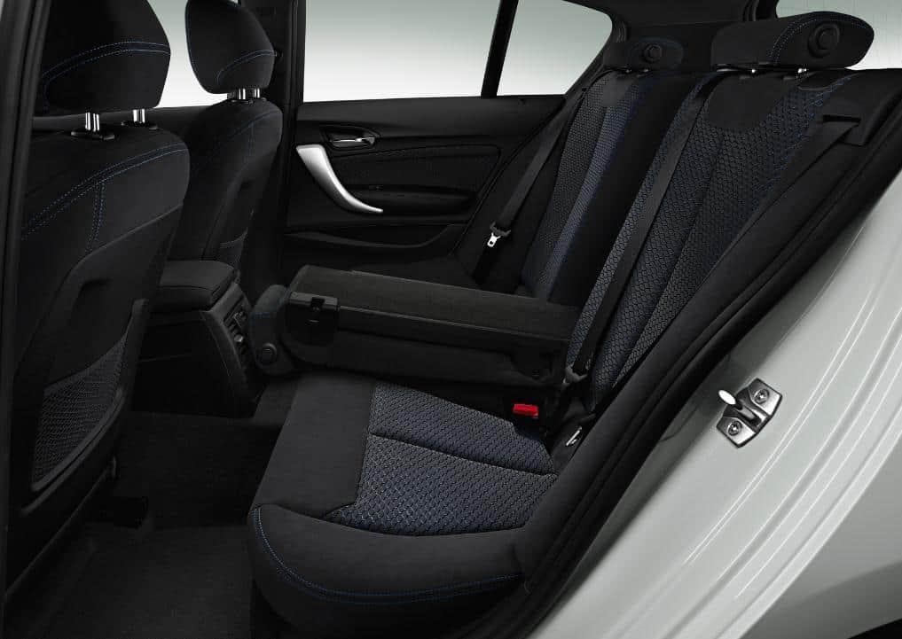 Asientos traseros BMW serie 1 Alquiler coches Malaga