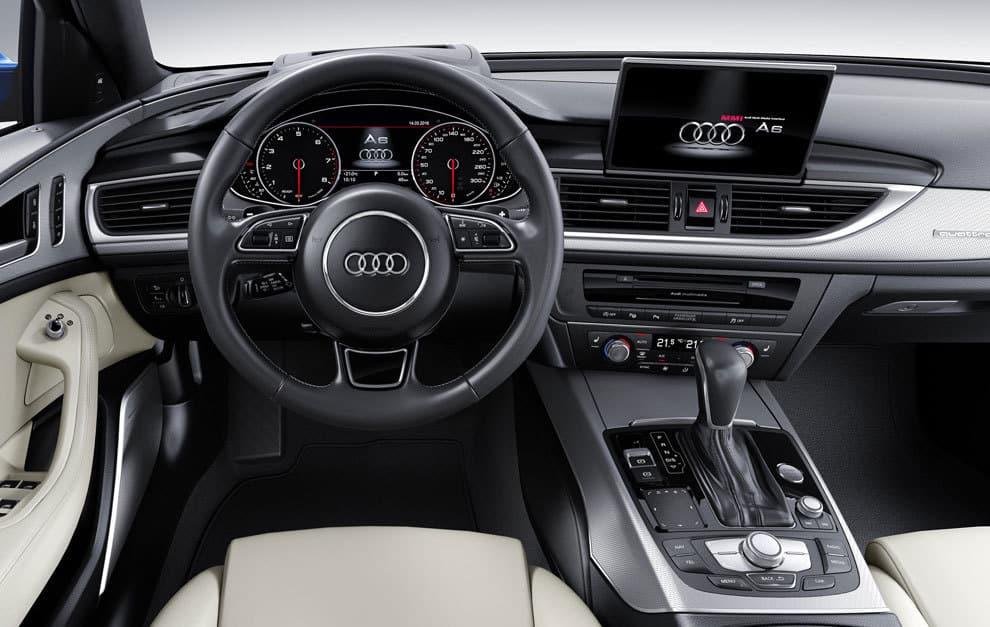 Audi A6 interior car Hire malaga Airport