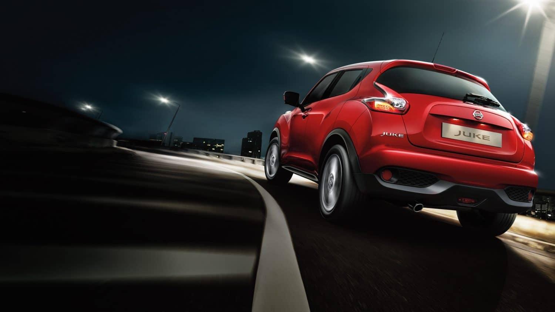 Nissan Juke detras Fetajo rent a car