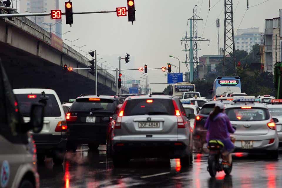 parada en semáforos conducción eficiente con rent a car Málaga