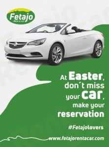 Offert Easter Fetajo Rent a Cart, fetajolovers