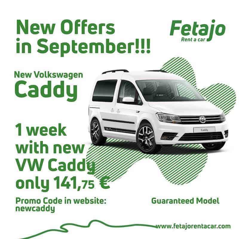 Offer Volwsvagen Caddy Fetajo Rent a Car