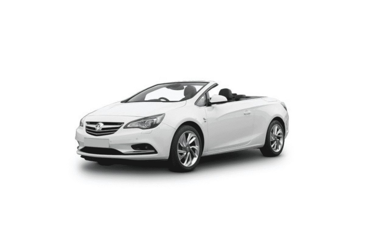 Opel Astra cabrio rent a car Malaga frontal
