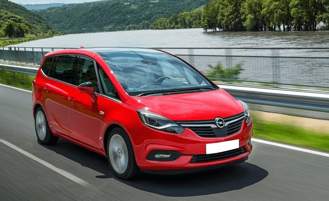 Opel Zafira rent a car Malaga frontal