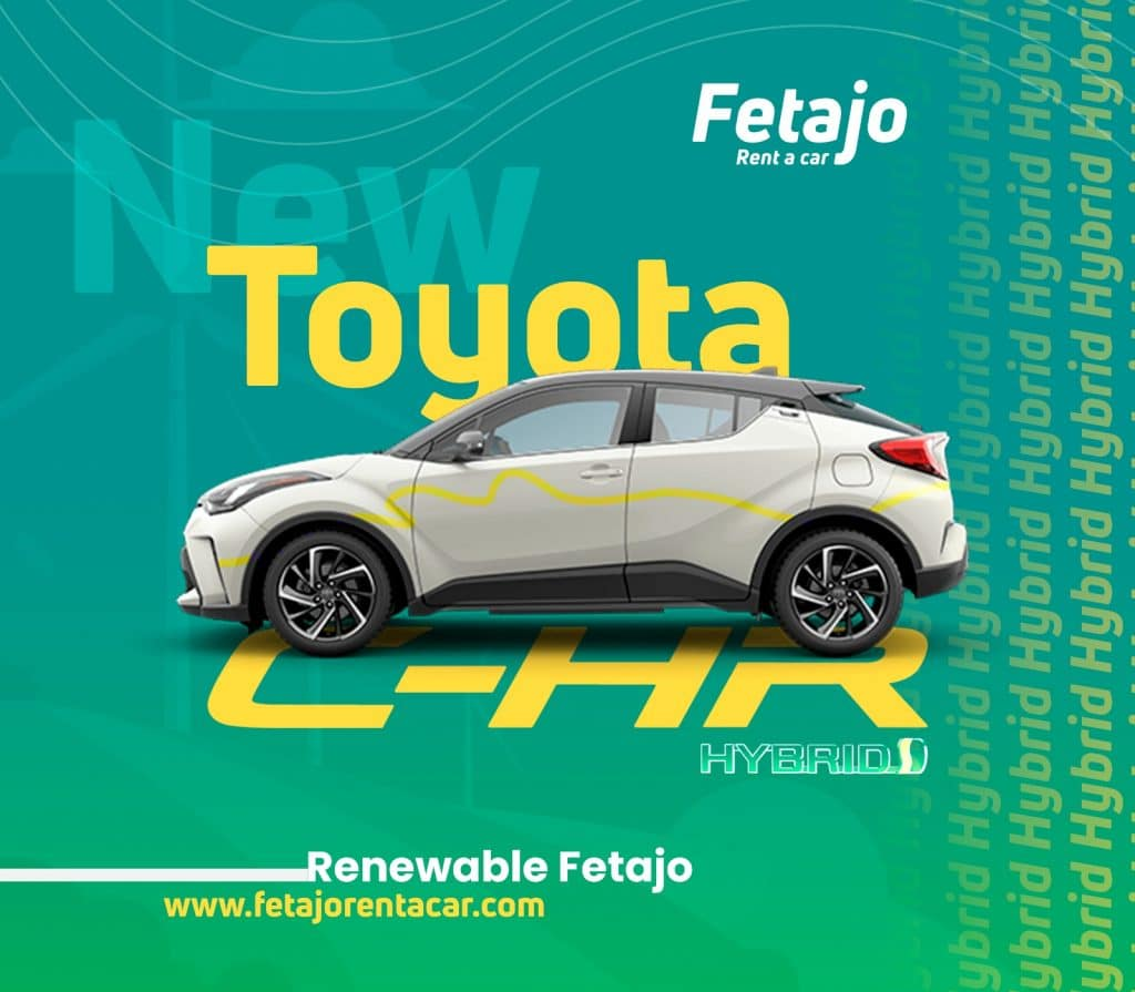 New Toyota C-HR - Fetajo Rent a Car - Car Hire Maaga Airport